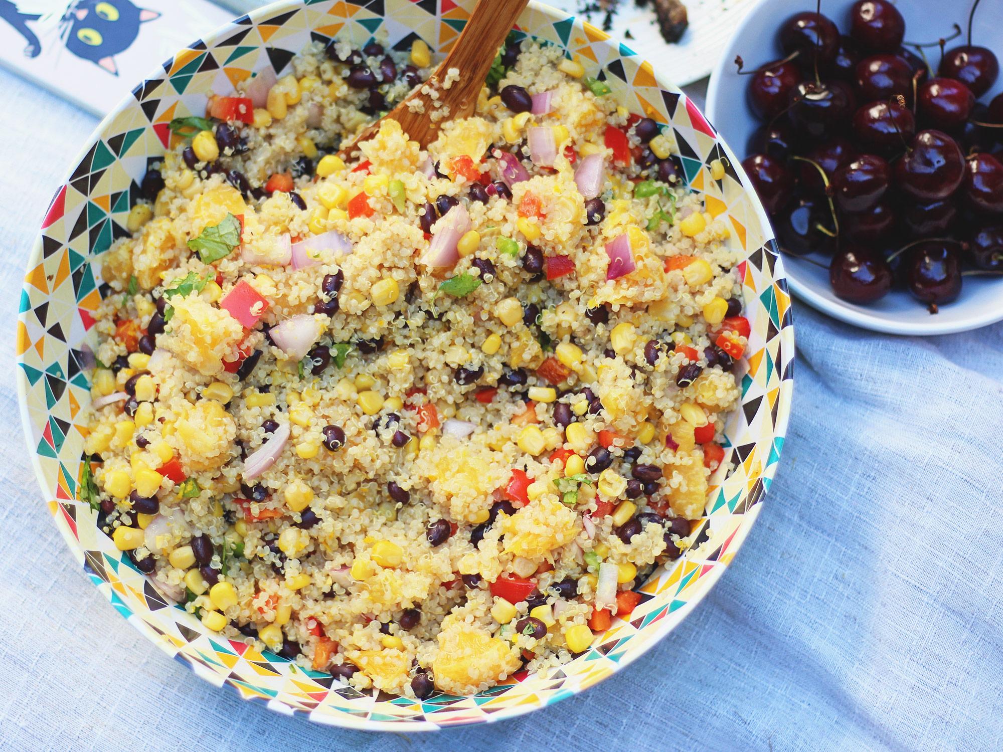 Black bean Quinoa Salad- perfect summer salad!
