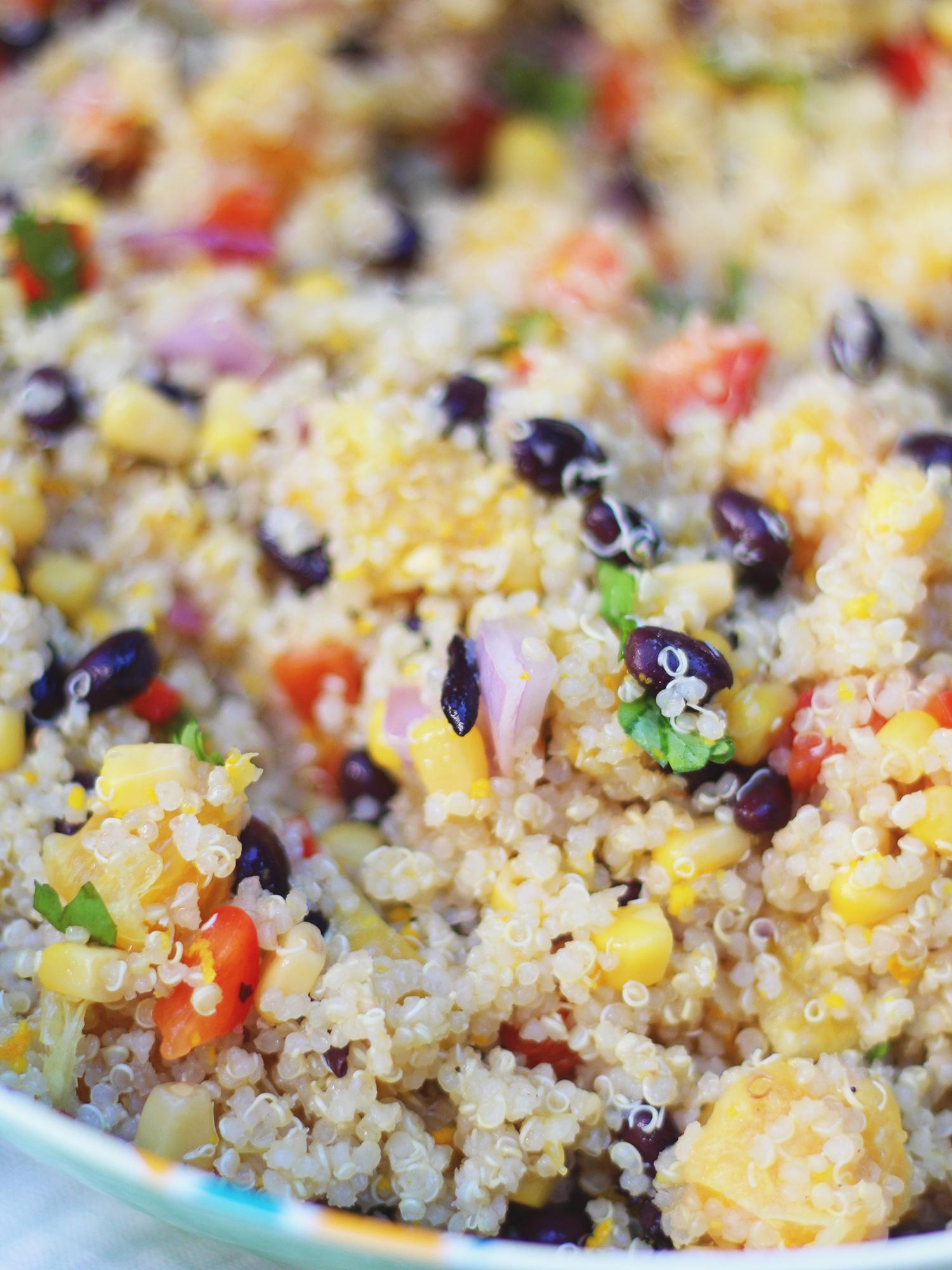 Black bean quinoa salad!