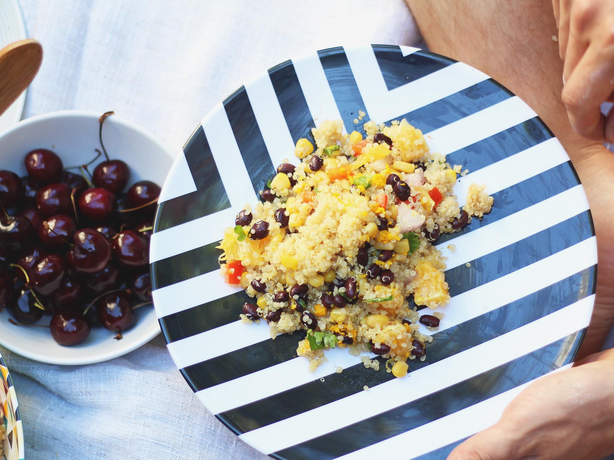 Delicious Black Bean & Quinoa Salad
