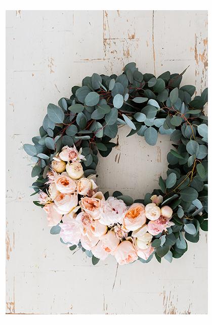 Gorgeous eucalyptus wreath