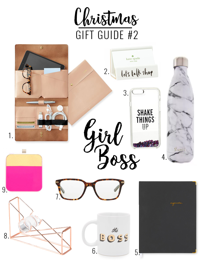 Holiday gift guide for the girl boss in your life!
