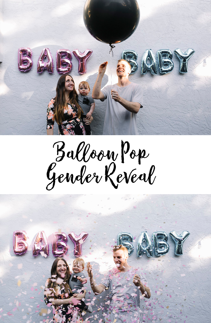 Balloon Pop Gender Reveal