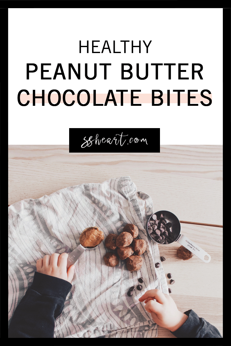 Healthy Peanut Butter Chocolate Bites