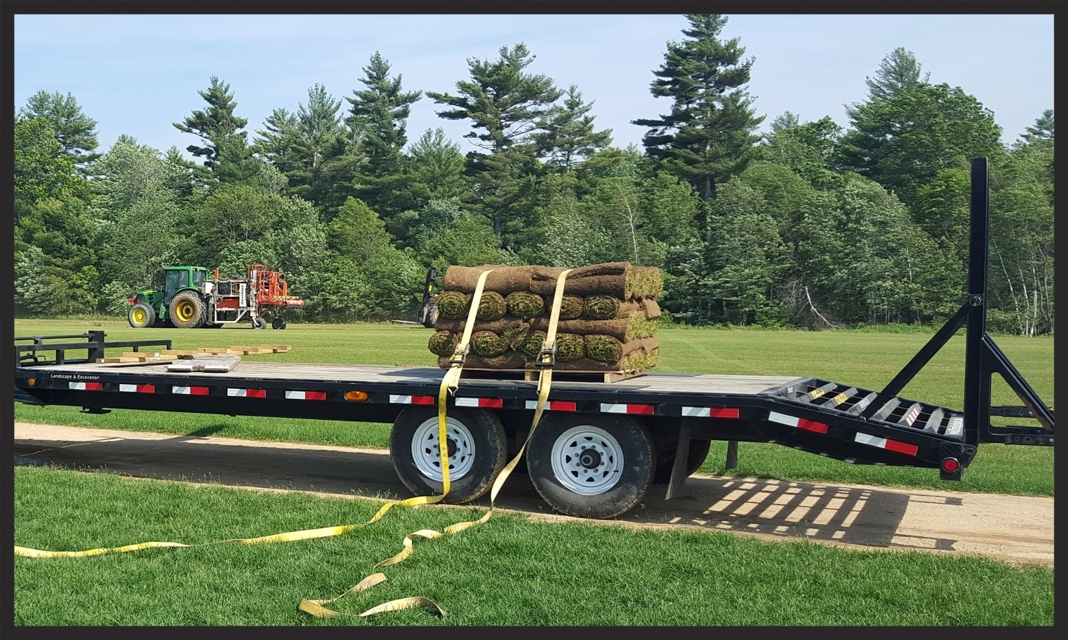 Sod from Field to Trailer