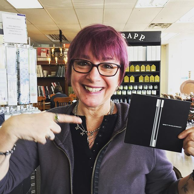 """Of all the Gina Frary Bacons in my life, this one is definitely my favorite. Today she got a copy of my """"latest"""" record, thanks to @stuffyshmitt . More to come @ginafrary ! #wxna"""