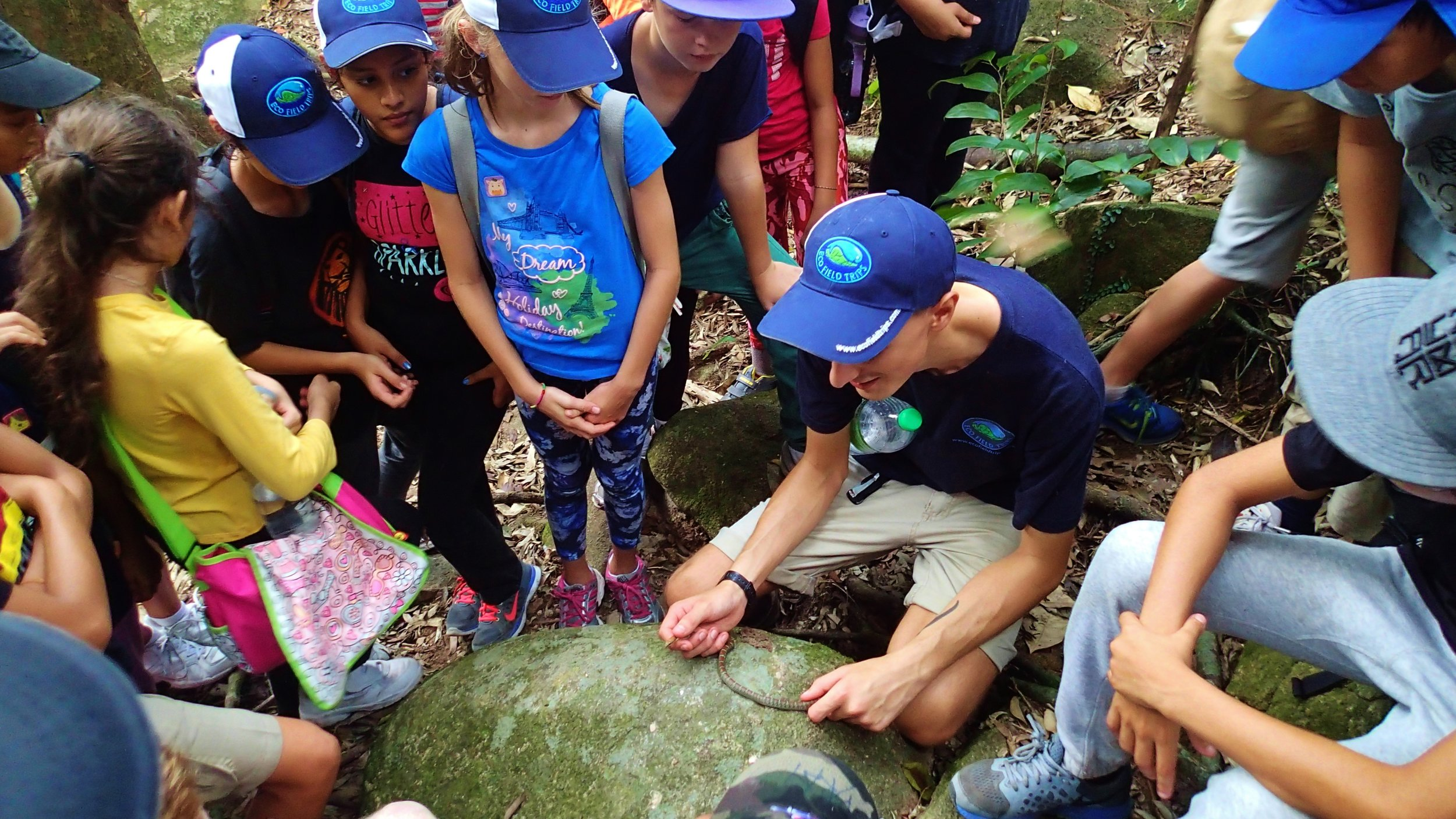 Tioman, Rainforest Walk, Animal Wildlife Interaction, Snake and Students, Connor.JPG
