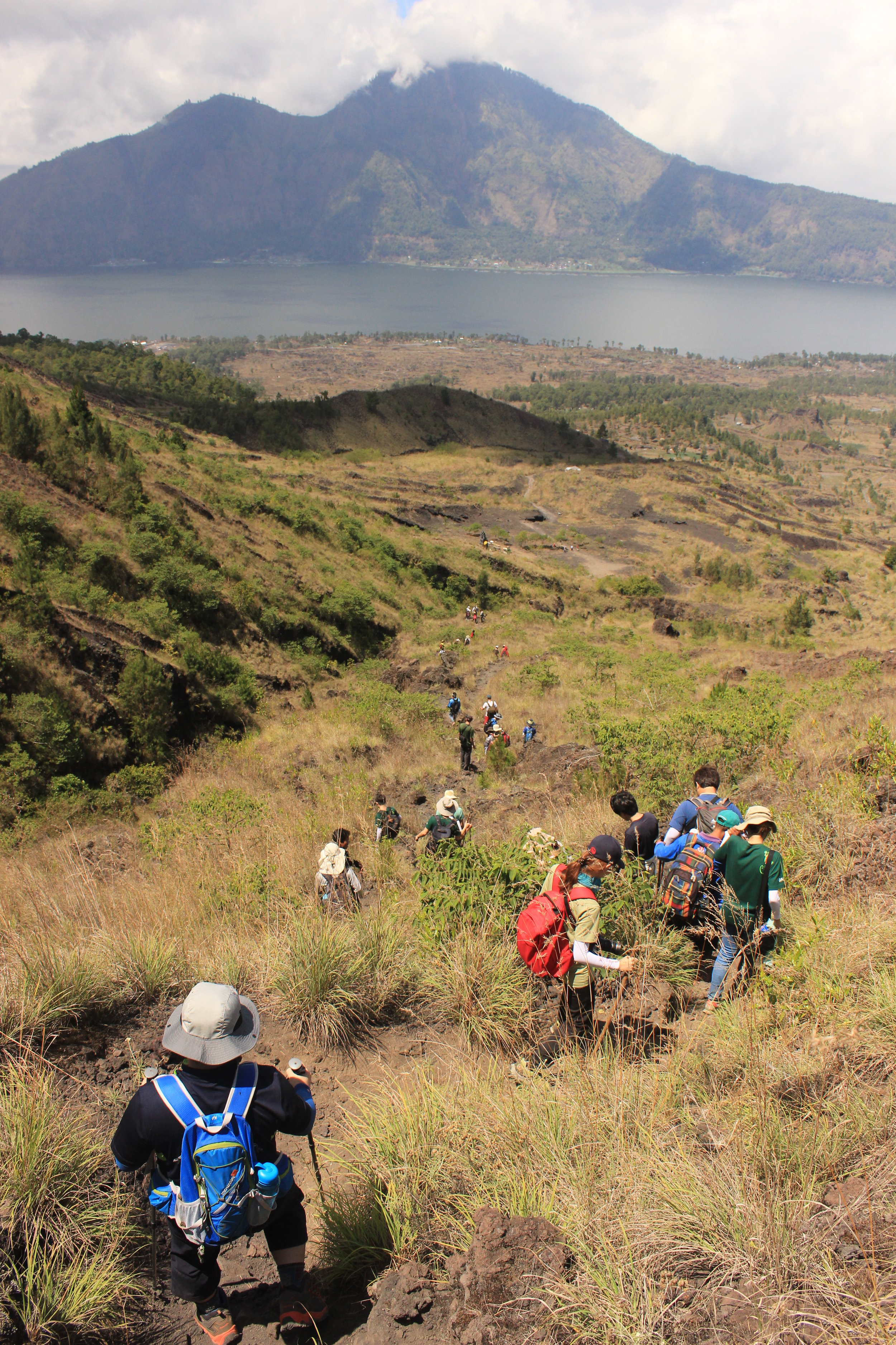 Bali, Mt Batur Trek, Trekking, Walking, Students, View, Scenery, Mountain, Lake GIST - Caltech.JPG