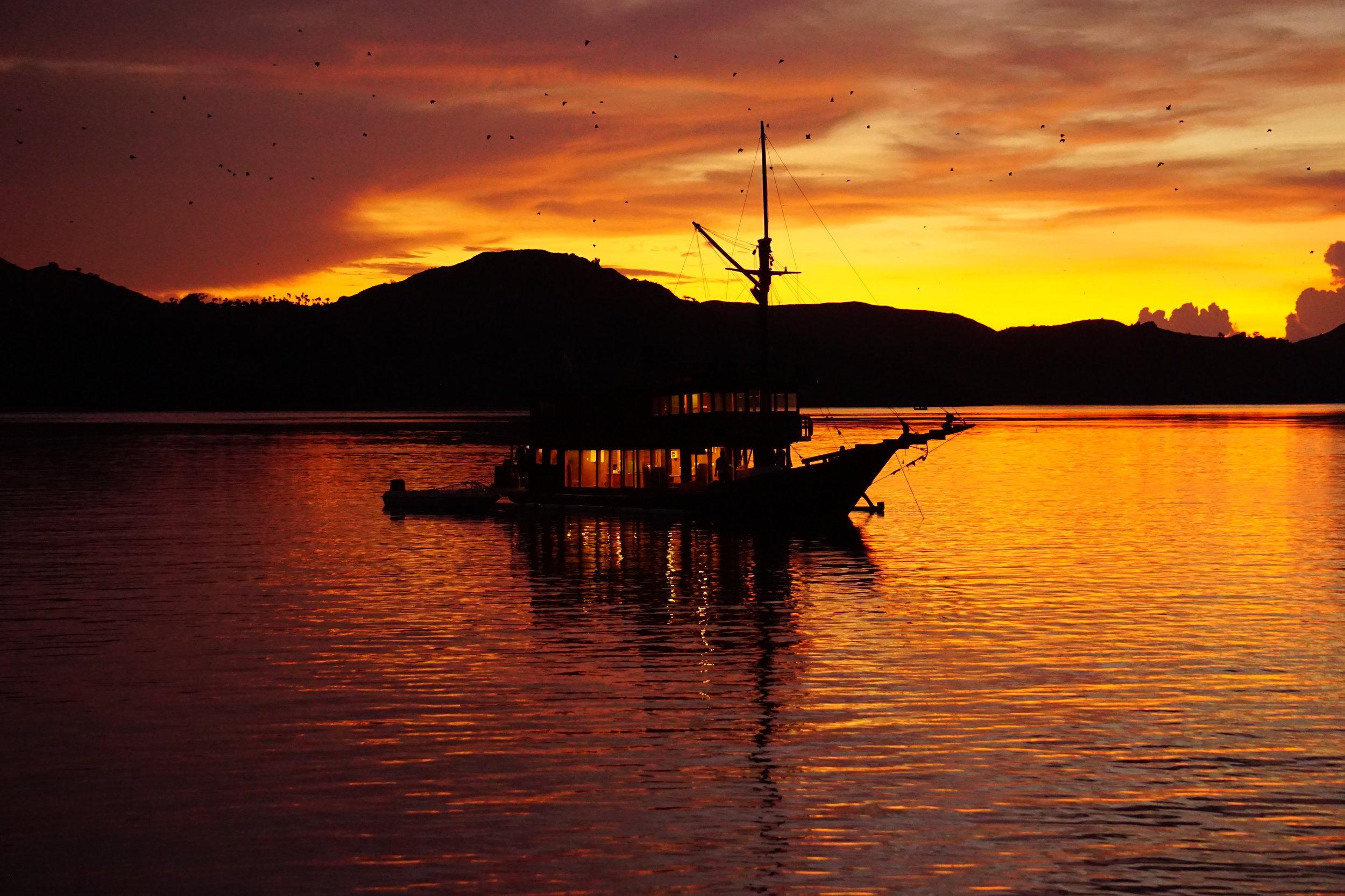 Sunset a Rinca Island