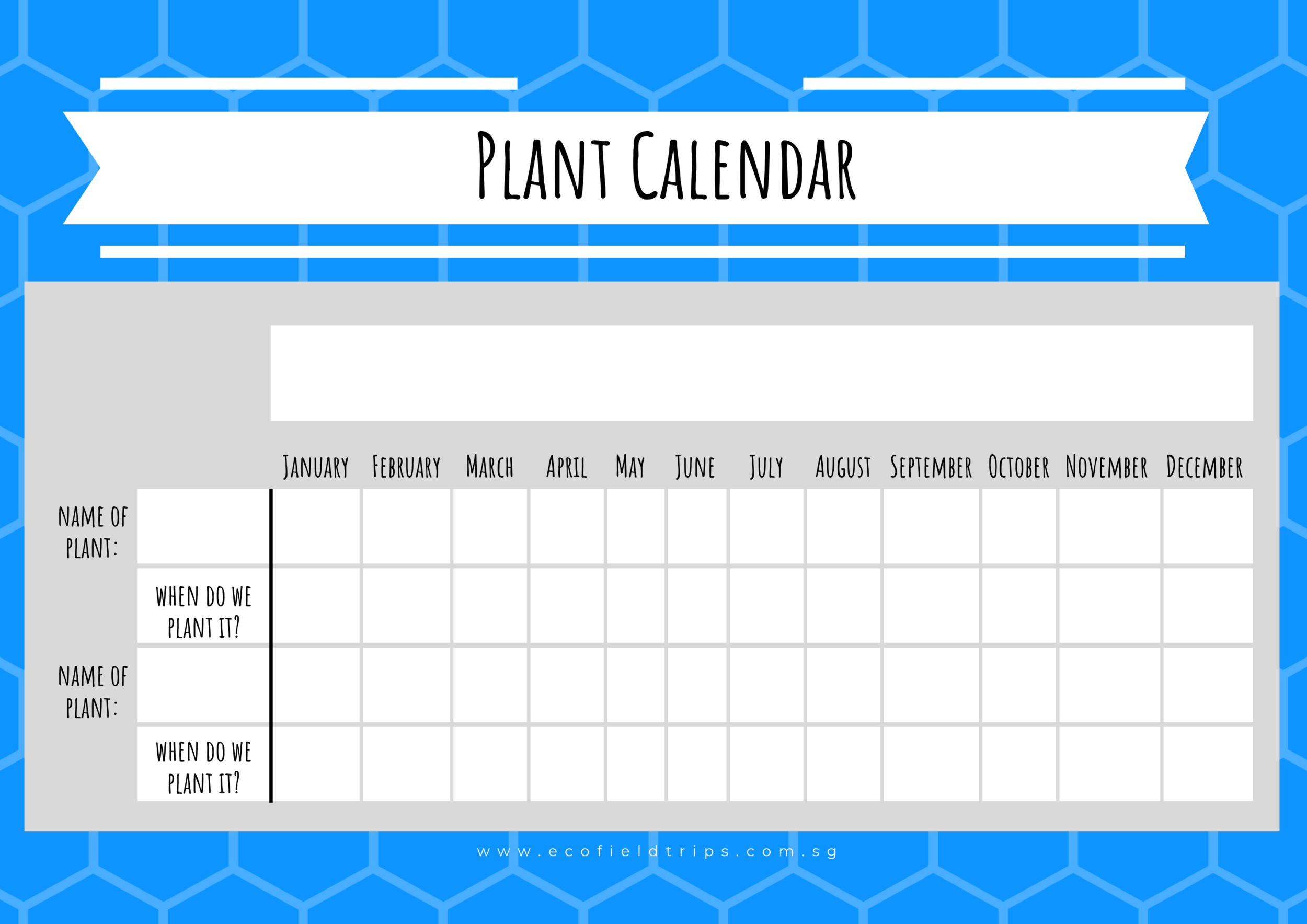 Use this template for your harvest calendar!