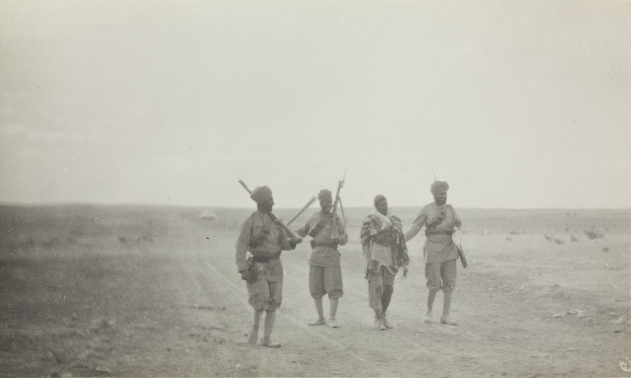 Sikhs with a Senoussi Prisoner