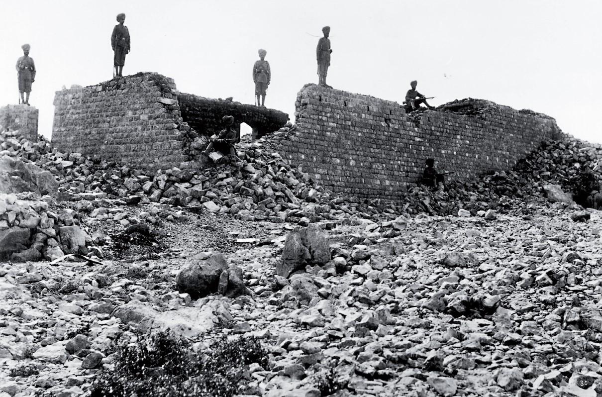 The ruins of Saragarhi