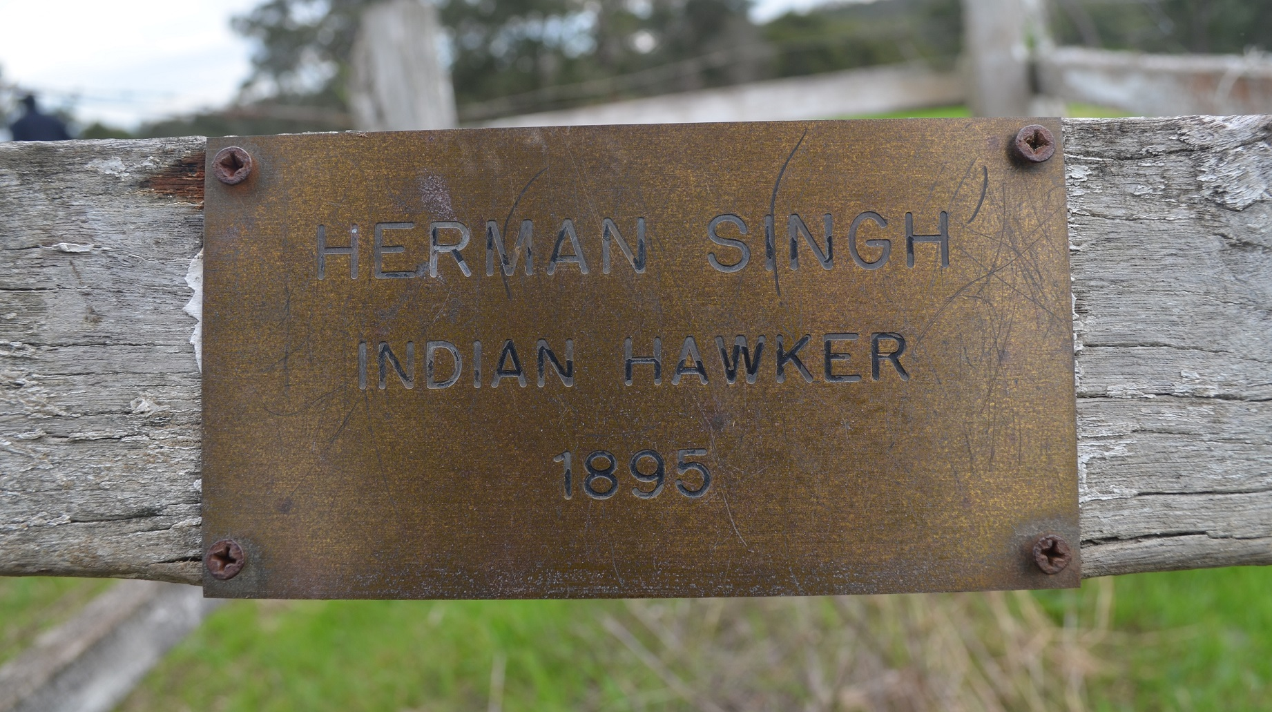 It is interesting that the date on this inscription at the cremation site states 1895 when Herman Singh died in 1901. Quite possible that this was the date Herman Singh began visiting the Muir farm.