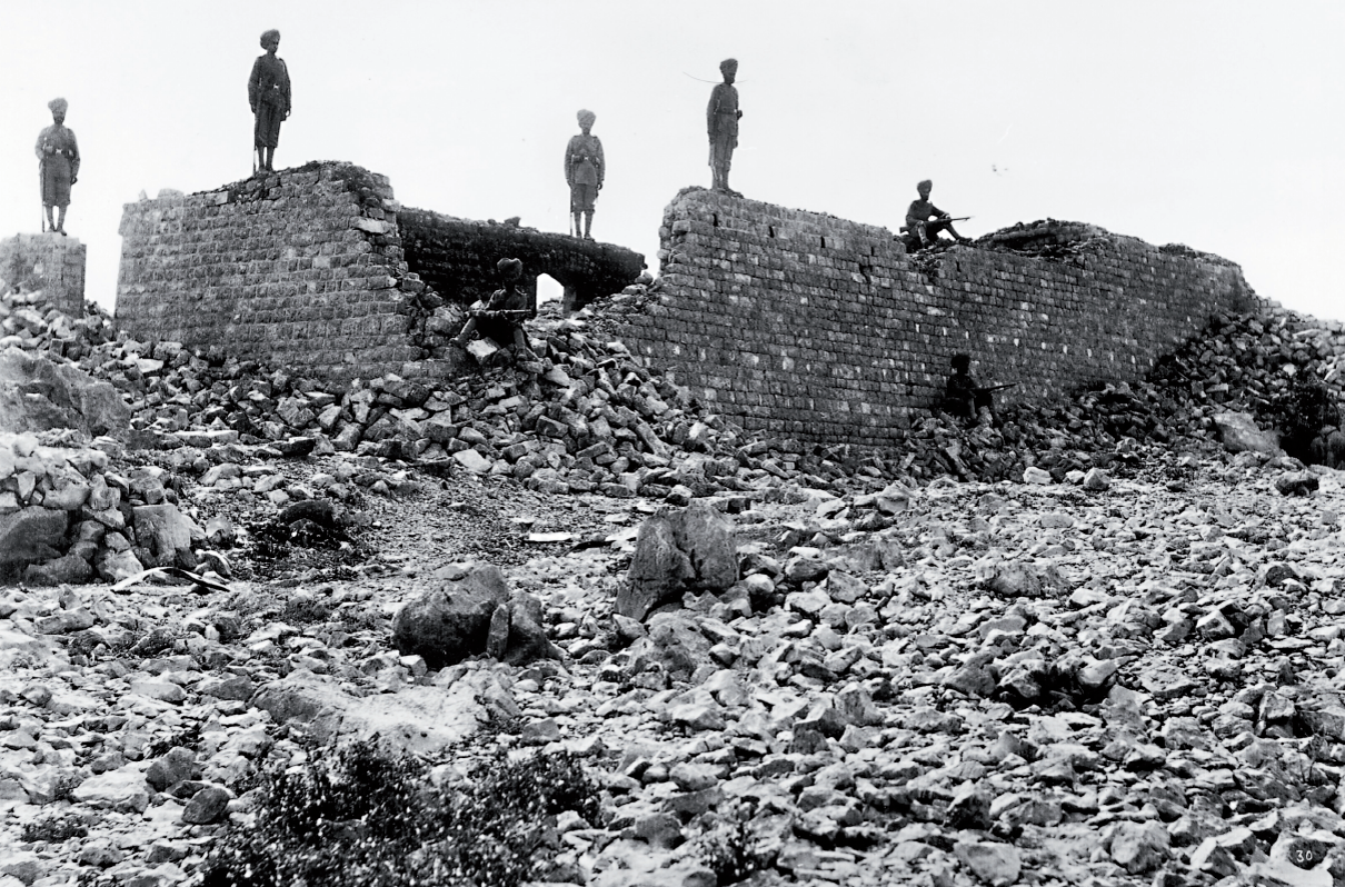 The ruins of Saragarhi.