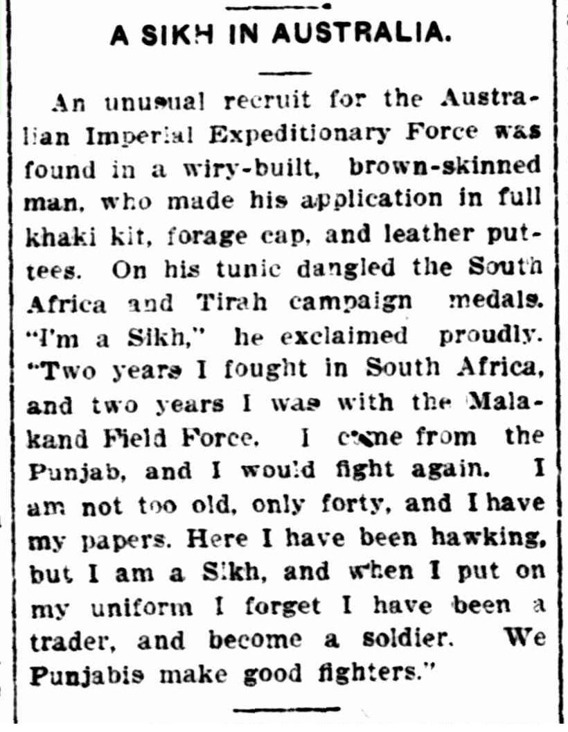 "Article taken from the Monday 25 January 1915 edition of ""The Daily News"" a newspaper in Perth, Western Australia. To see original source please click on link below:  http://nla.gov.au/nla.news-article79908054"