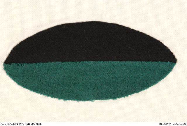 Colour patch : 13 Infantry Battalion, AIF  Source: Australian War Memorial. https://www.awm.gov.au/collection/U51473