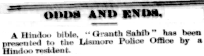 "Article found in the ""Northern Star"" newspaper in NSW on Saturday 22 July 1899."