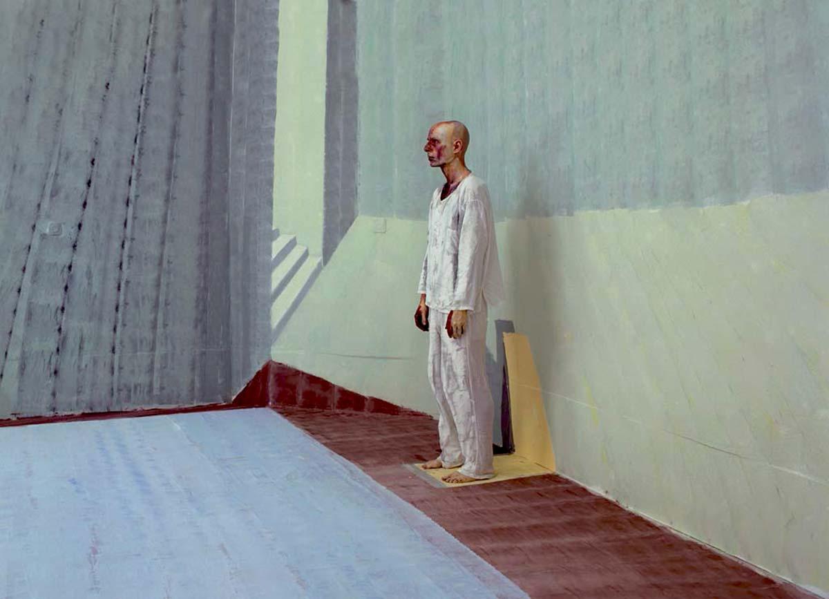 Self-portrait in a Pool - side  - 2009 Lambda print  Edition: 5+2A.P., Size: 70x100cm