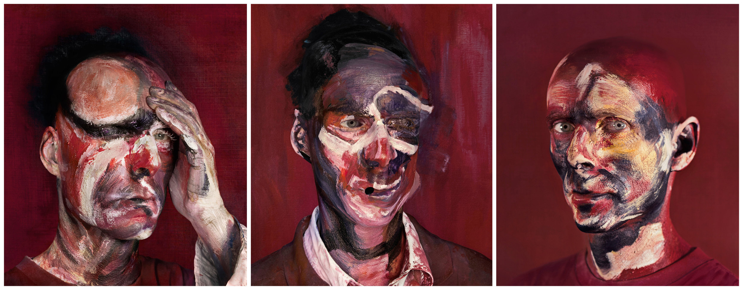 "After ""Three Studies for Portrait of  Lucien Freud""   - 2013   3 Archival Pigment Print   Edition: 6+2A.P., Size: 35.5x30.5cm each"
