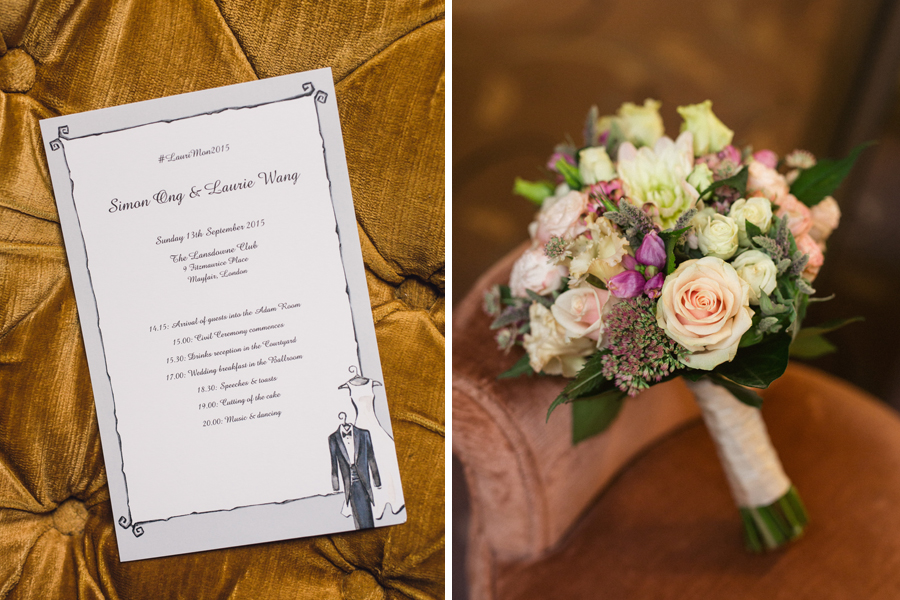 Laurie & Simon - Lansdowne Club Mayfair Wedding - www.catlaneweddings.com