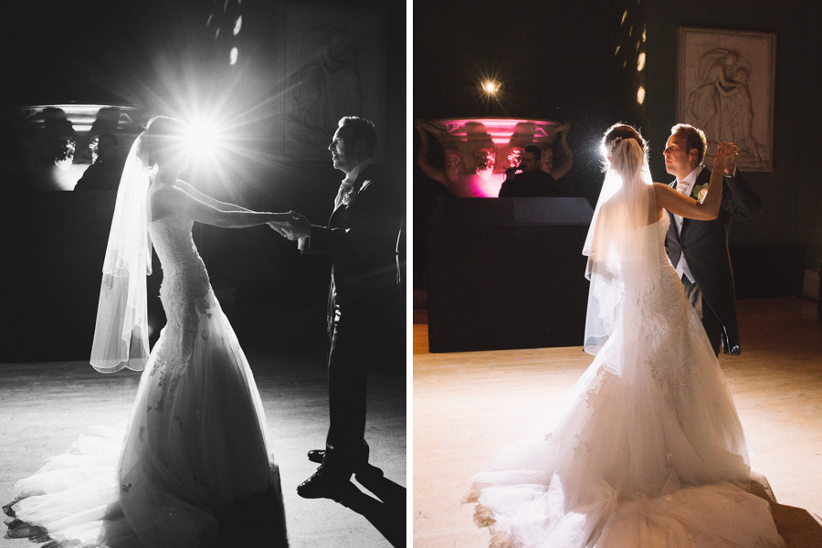 first-dance-wedding-woburn-sculpture-gallery