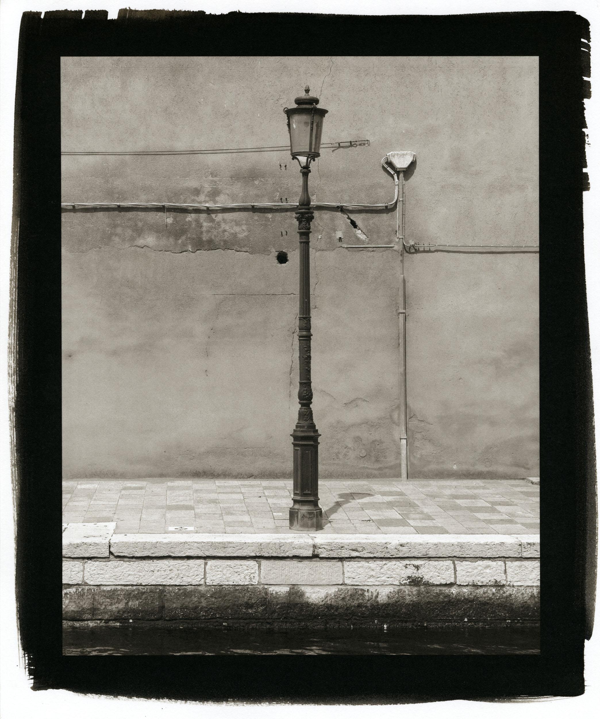 """Lamp Post, Venice (Platinum/Palladium Print, 8 x 10"""")"""