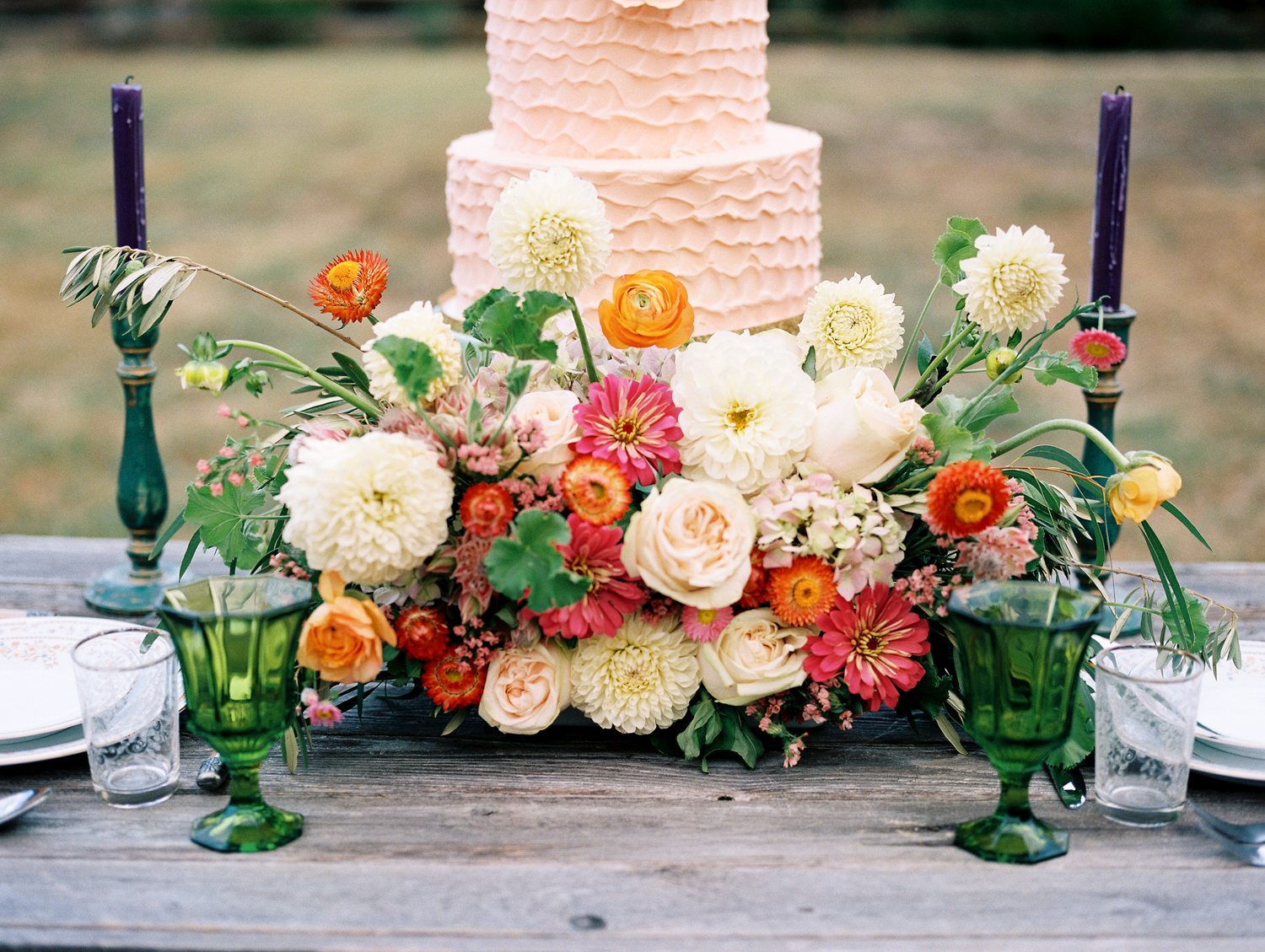 Floral Friday | Colorful Bohemian Arrangements by Everly Alaine Florals