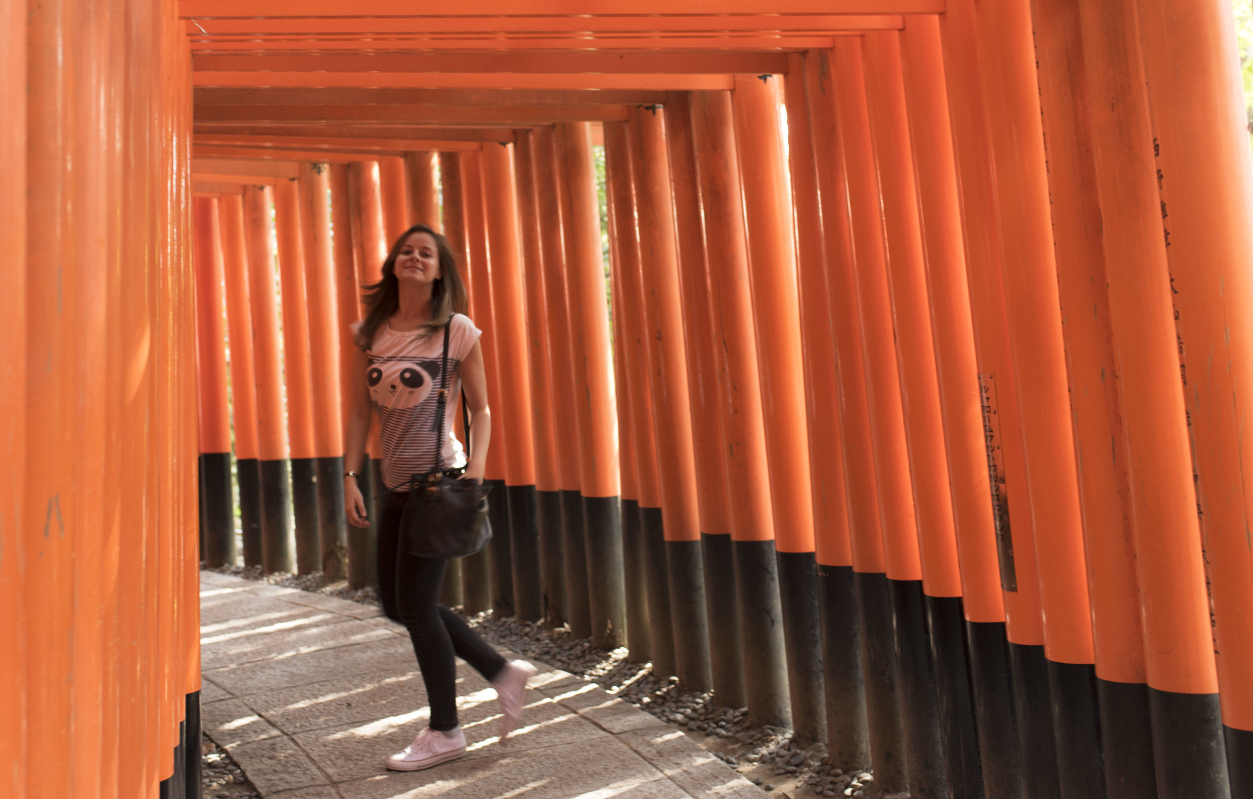 ISO 500, 35mm, f/2.5, 1/50 sec - Fushimi Inari shrine, Kyoto & Terry