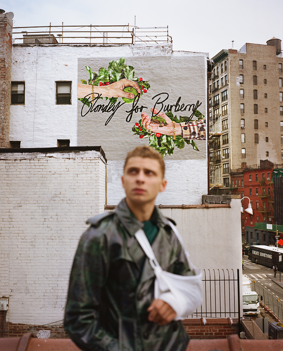 Blondey McCoy unveils three Burberry murals in Manhattan - Soho, Lafayette Street and Spring Street x LE MILE Magazine