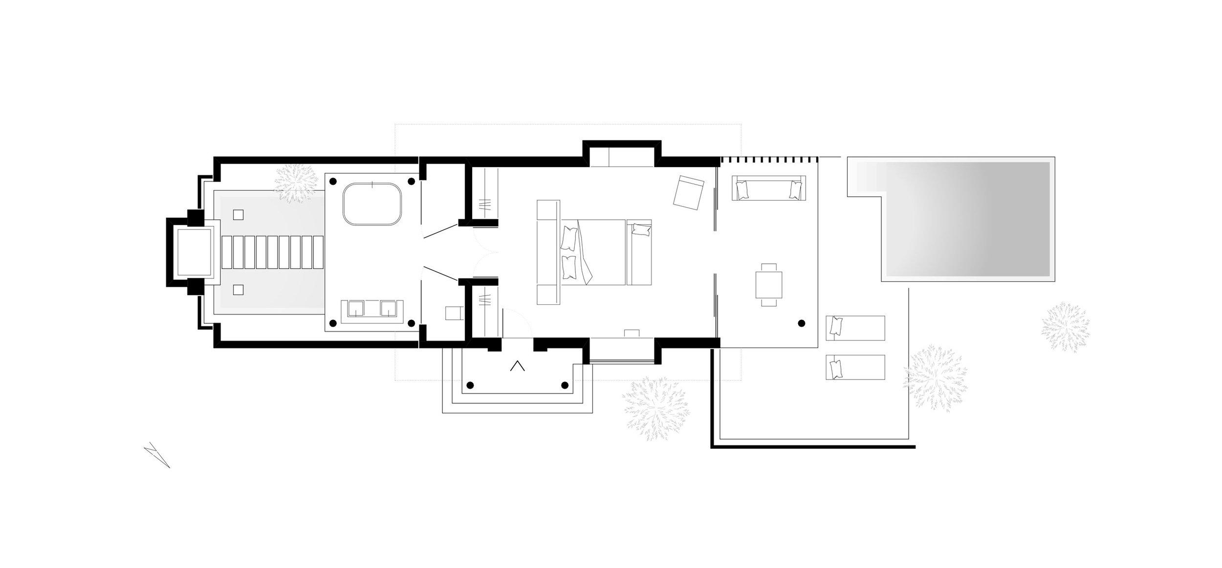 ground plan, Niyama Beach Pool Villa  (c) Tim Jahn, le mile studios
