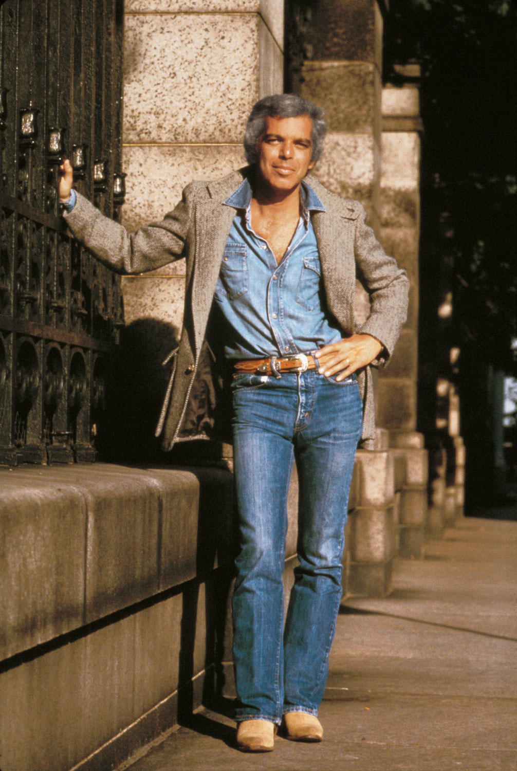 Featured in the photo: Ralph Lauren, 1978, Photo credit: Les Goldberg / Courtesy of Ralph Lauren