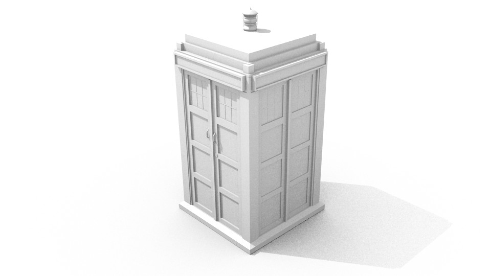 11th Doctor Tardis. Basic Geometry.