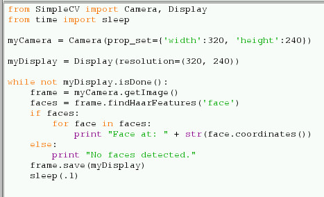 Code for Face Dectection