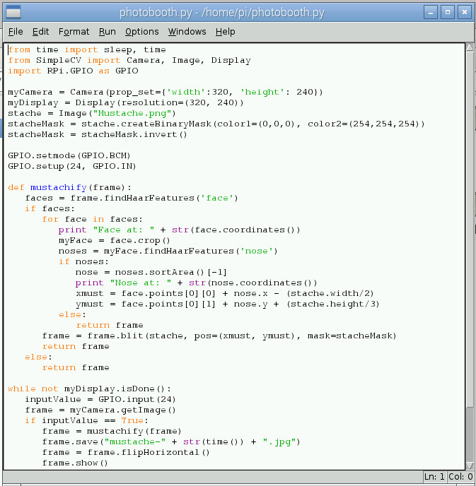 Python code for the project