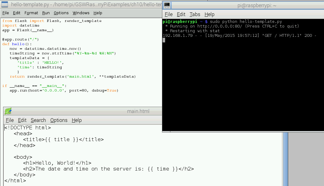 Template created with Python and HTML