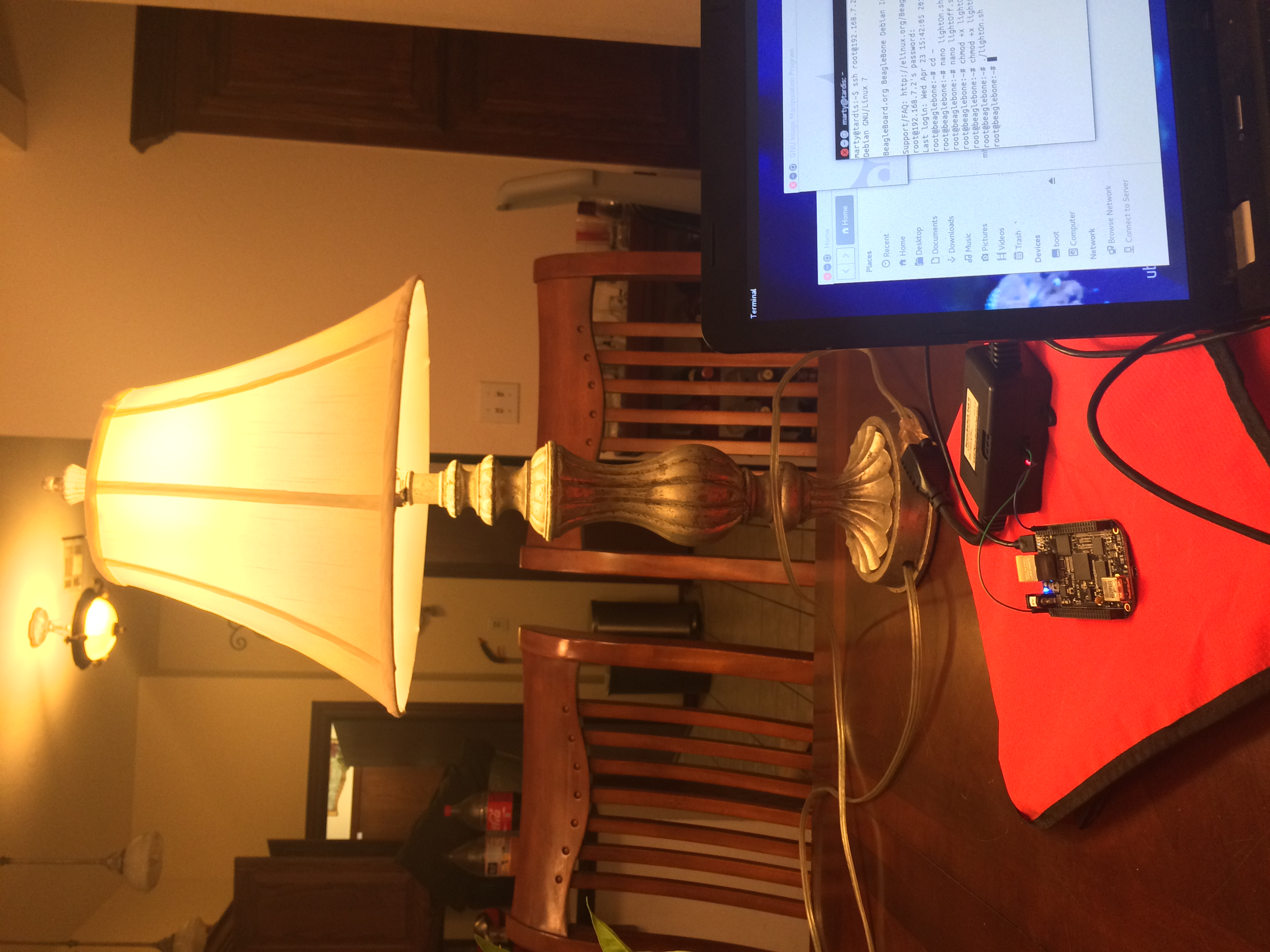 Controlling a Lamp with the BeagleBone Black