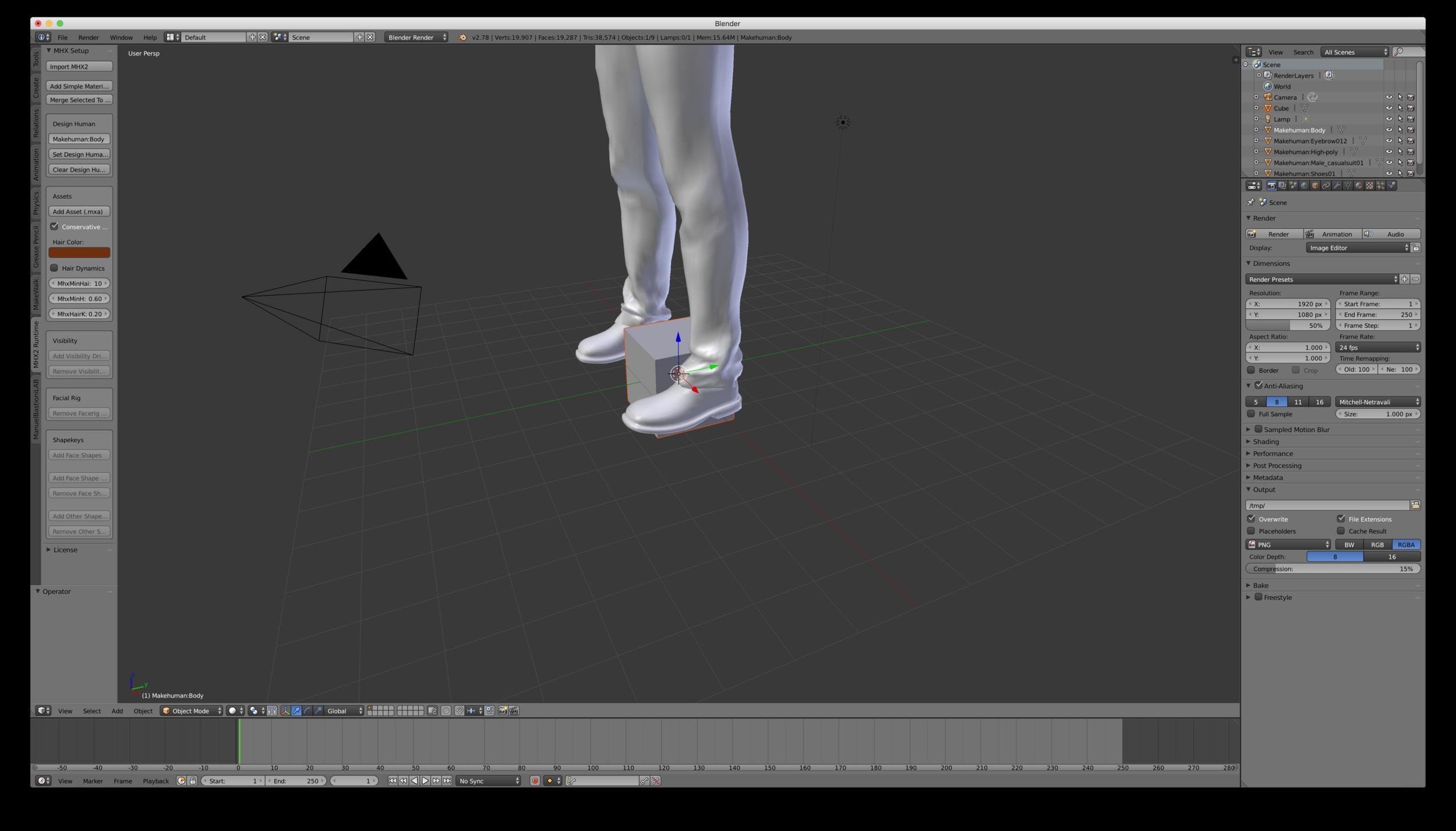 Oversized model imported to Blender 3D