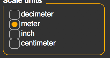 Scale Units option set to meters instead of decimeters for MakeHuman export