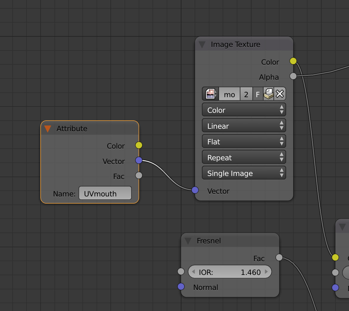 Attach the Attribute Node to the Image Texture Node