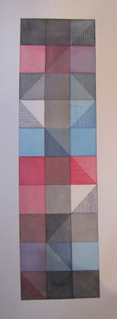 """Tower Acrylic and Marker on Canvas 27.5"""" x 10.25"""" x 1.5"""""""