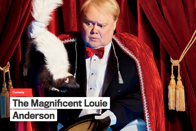 Podcast - GQ's first-ever podcast, featuring Louie Anderson, GQ's editor in chief Jim Nelson, and me: open.spotify.com