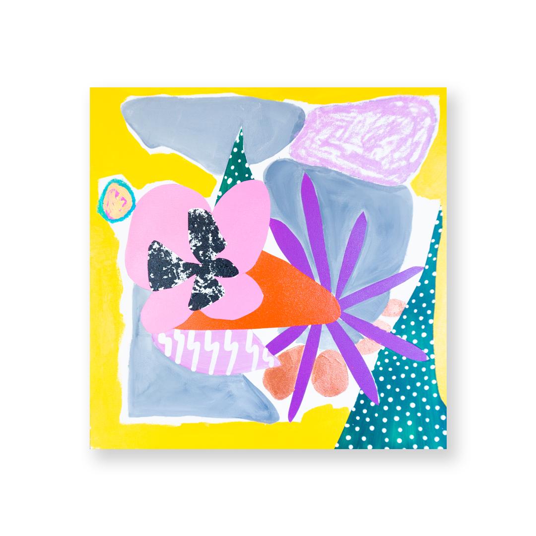 - Natureacrylic, pastel, spray on wood panel. 12x12. 2019