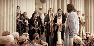 Jesus arguing with the Pharisees