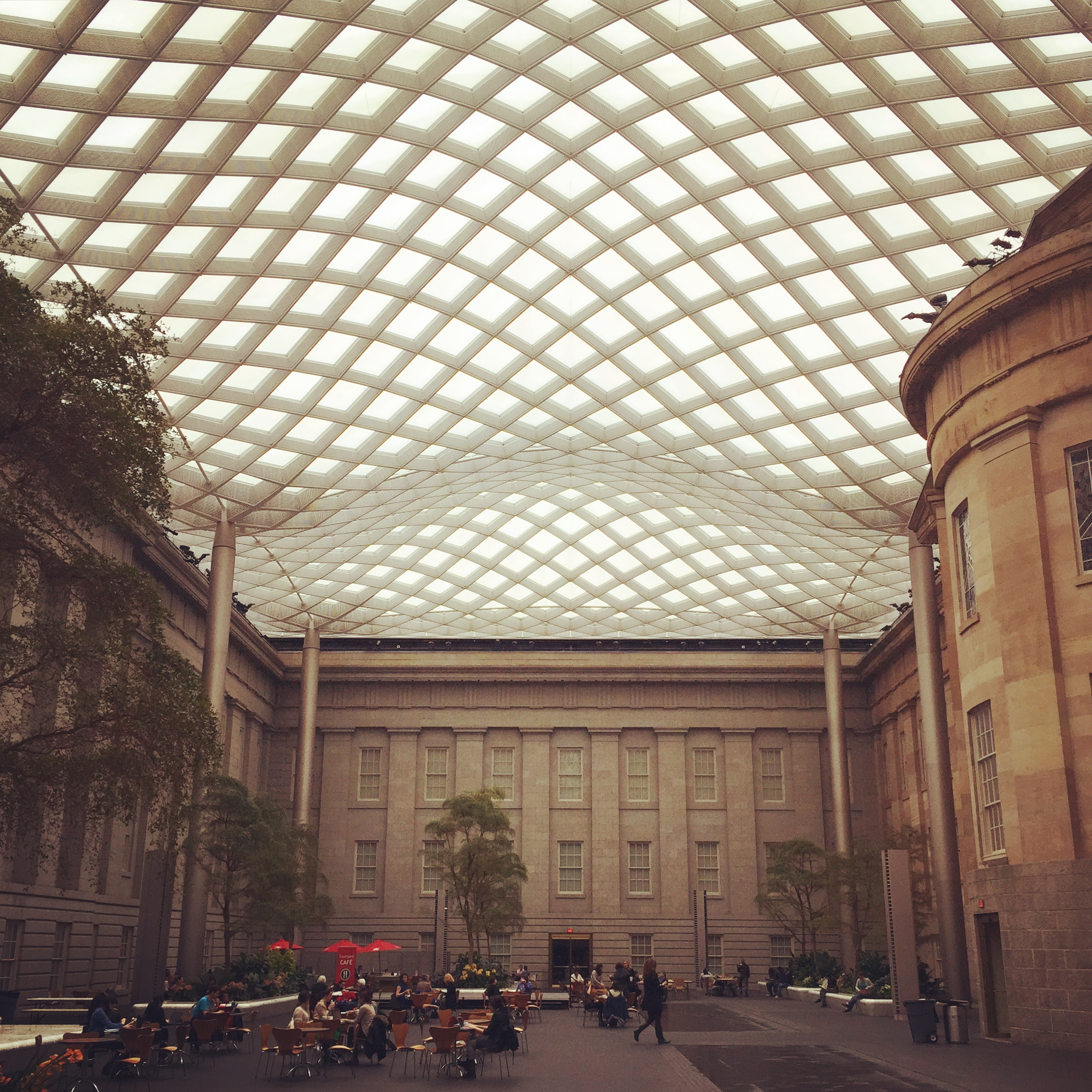 Before hitting the road, my client and I took a spin through the National Portrait Gallery since neither of us had ever been. This is its stunning courtyard, which we agreed would make for a killer party spot.
