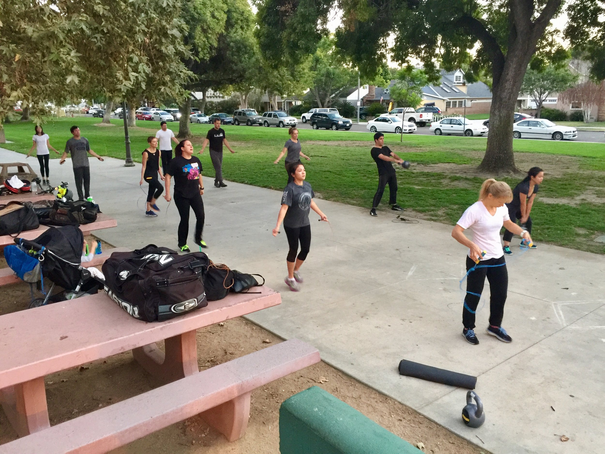 GET AFTER IT!!    LA Combatives Training is genuine, old school training  in realistic environments.    High intensity Interval Training, Proven Calisthenics Workouts and Flexibility Training meet Practical and Simple Self Defense in the  fresh air  as you train at Stunning Parks.