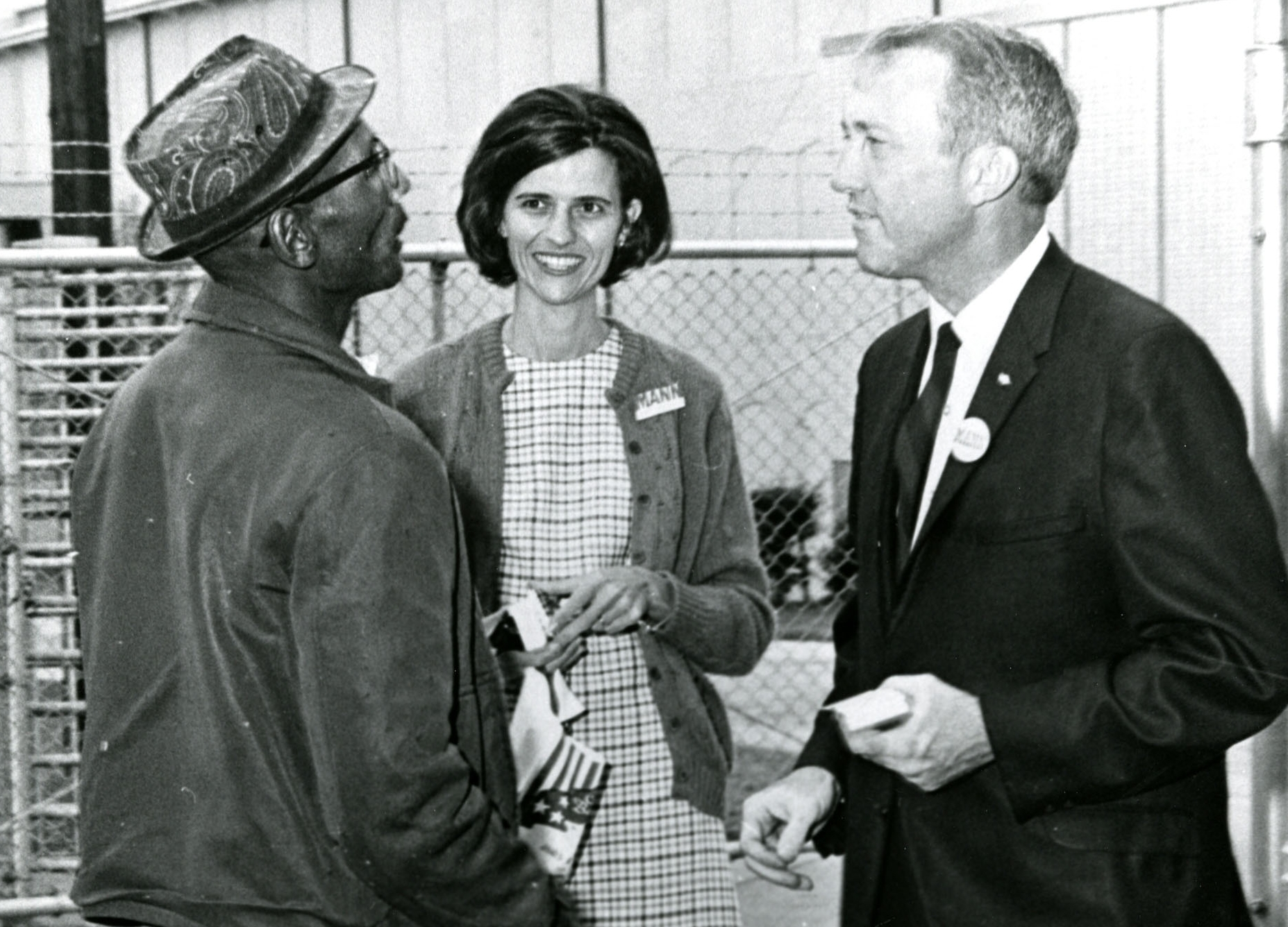 Liz Patterson with congressman mann early in her political career