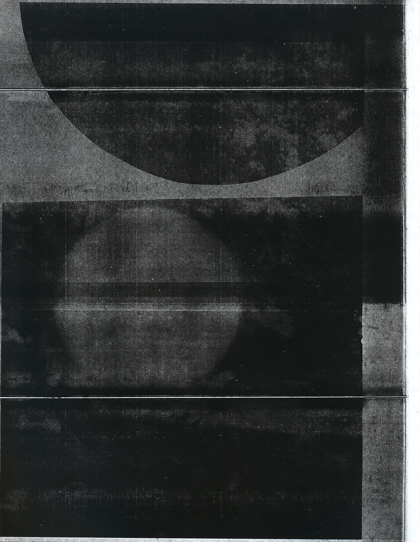 "Shivers study 6  unique photocopy 2015 11"" x 8 1/2"""
