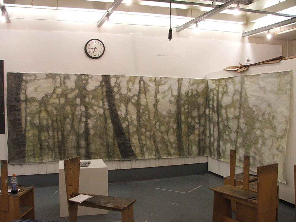 Large Scale Drawing Installation, Charcoal, Advanced Drawing