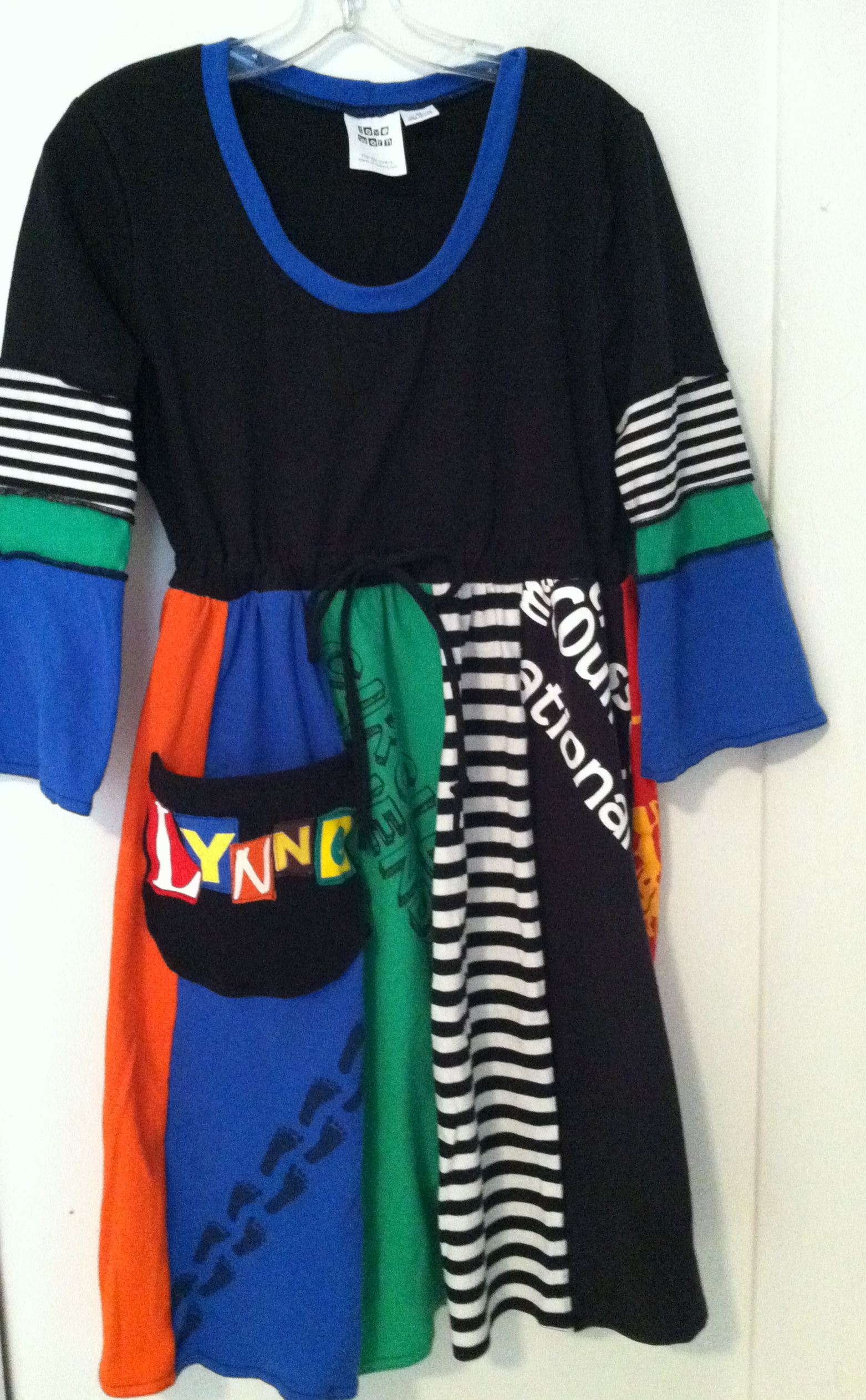 Example, Loveworn empire waist, drawstring dress, cap, short or ¾ sleeve length, $65 XS-XL