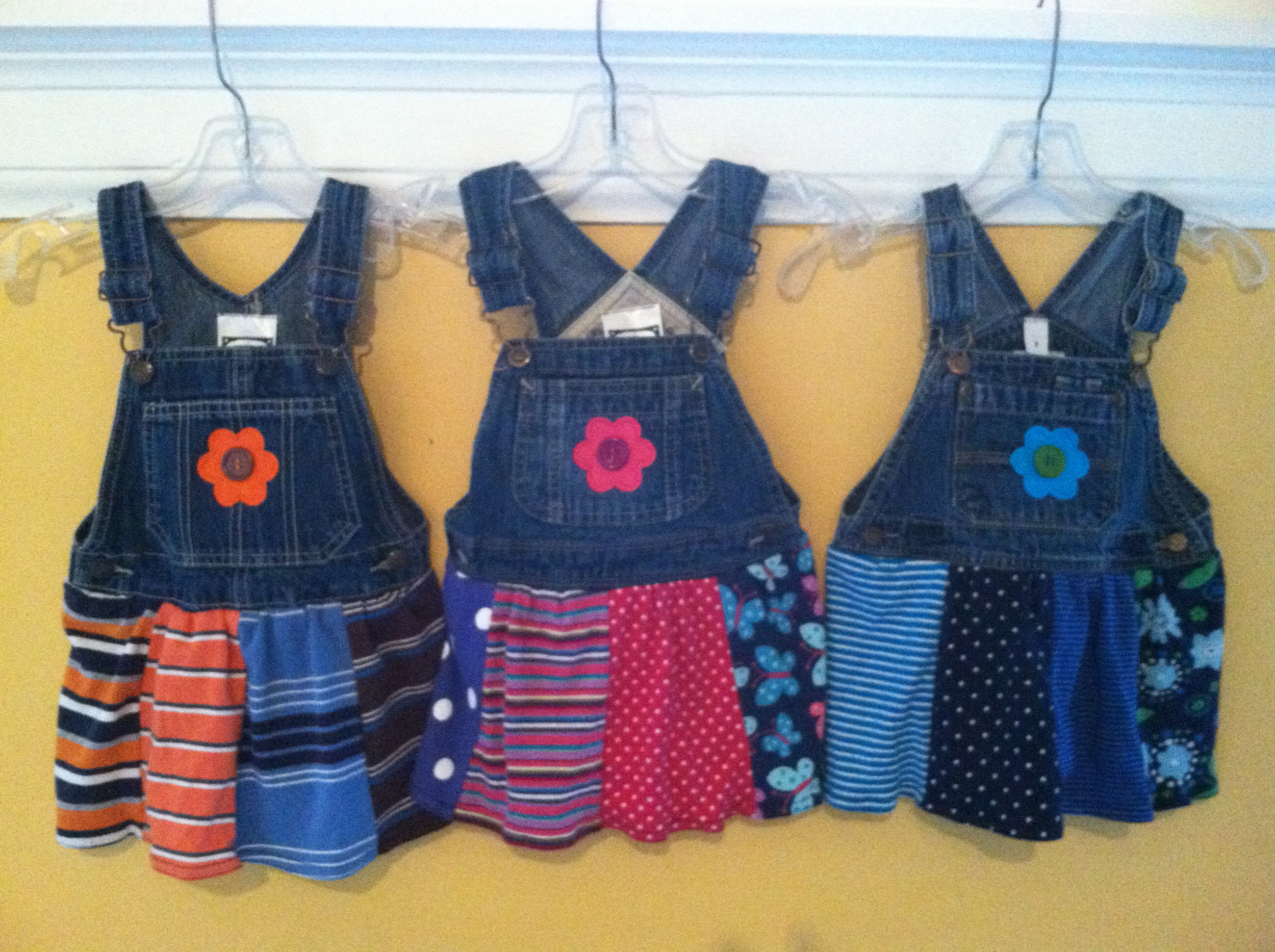 Child's upcycled overall jumper, sizes xs 6-12mo,  s 18mo-2T, m 2-4, L 4-6, xl 8-10 $35