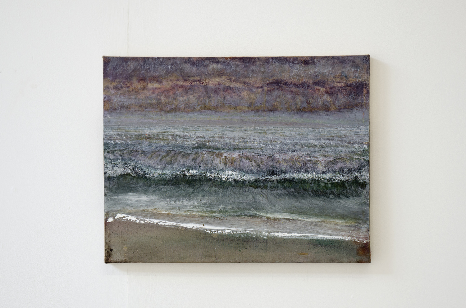 Merlin James, Purple Sky, 2004 - 05,acrylic on canvas,37 x 48 cm,The artist and Mummery + Schnelle, London